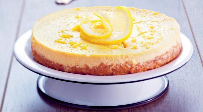 Recette d'automne au citron : le Cheesecake léger