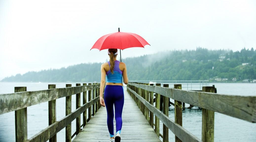 faire du sport sous la pluie