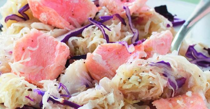 Je prépare une choucroute de la mer