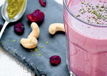 Milk-Shake framboise – pomme – coco – cajou