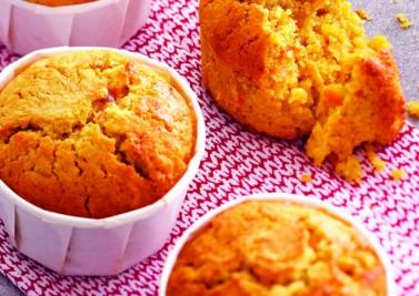 Muffins aux carottes et au son