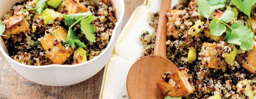 Salade de quinoa au tofu et à la courgette