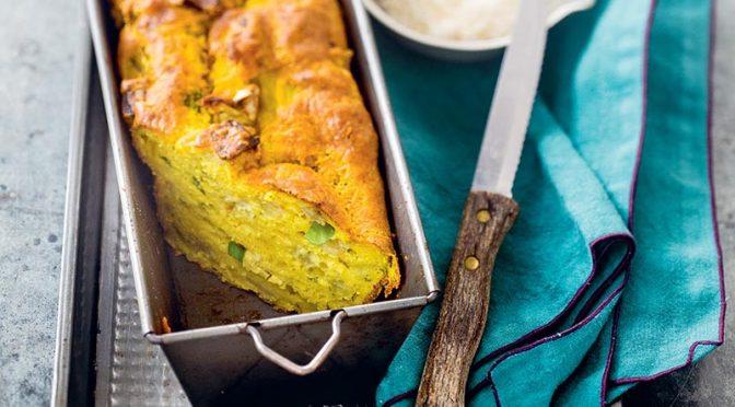 Cake à l'aubergine et au curcuma