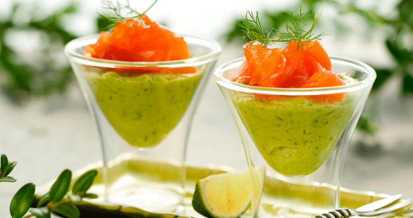 La verrine fraîcheur avocat boursin saumon