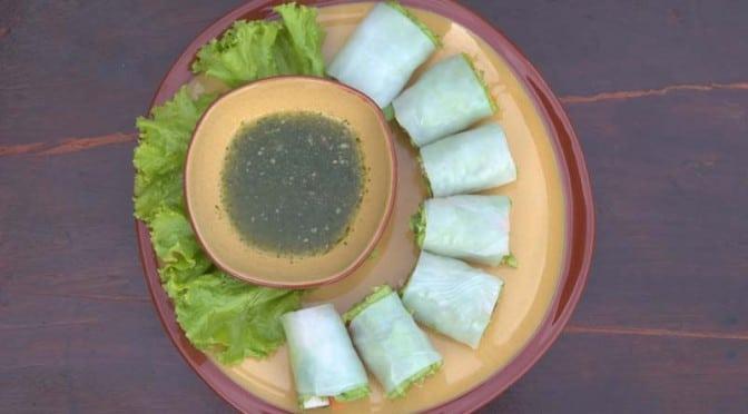 Rouleaux de printemps très frais au concombre