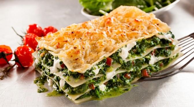 Lasagnes veggie aux épinards