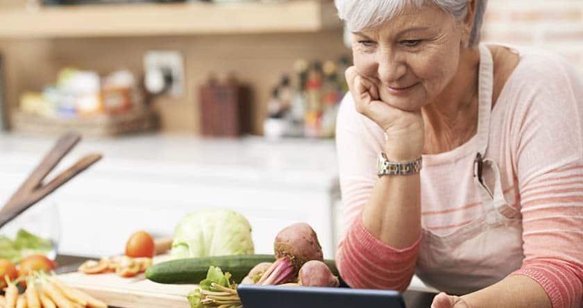 végétariens seniors