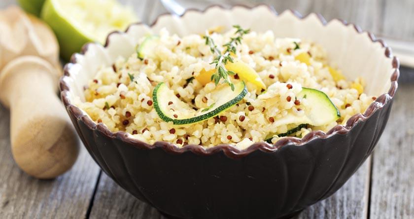 quinoa courgette tofu