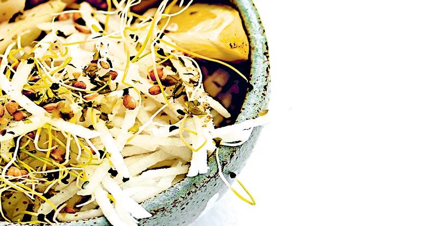Recette aux légumes à base de céleri-rave