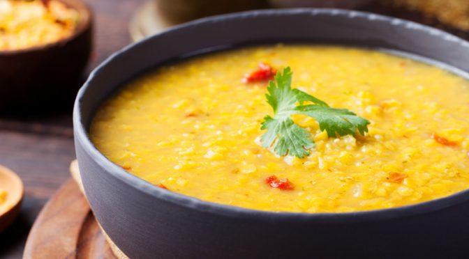 Curry de riz et lentilles corail