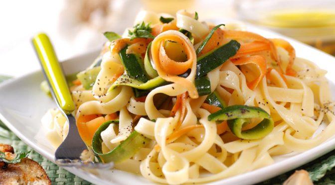 Tagliatelles aux légumes