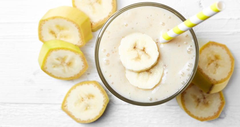 Smoothie banane et lait de riz