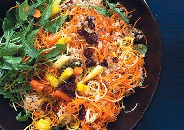 salade de carottes & quinoa aux cranberries