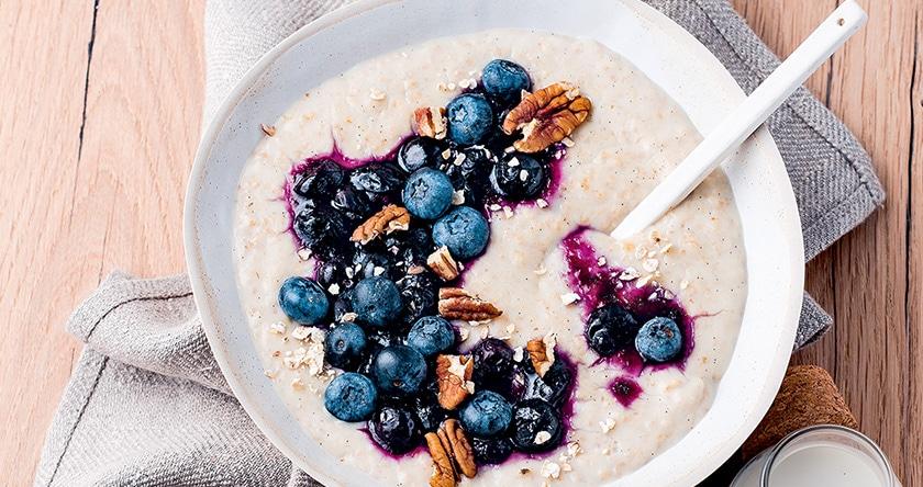 porridge myrtille