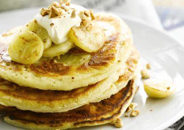 Pancakes parfumés à la banane