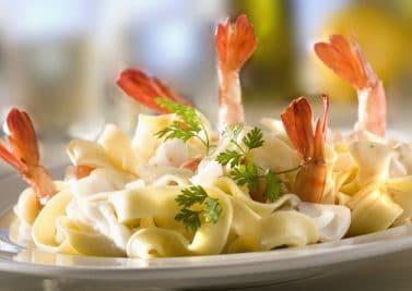 Recette Tagliatelle au parmesan et aux gambas