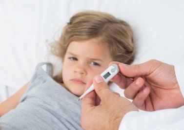 La fièvre chez les petits
