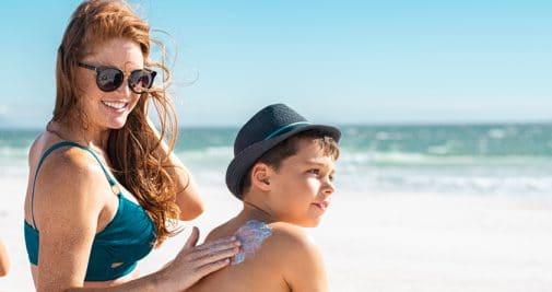 La protection solaire pour les enfants