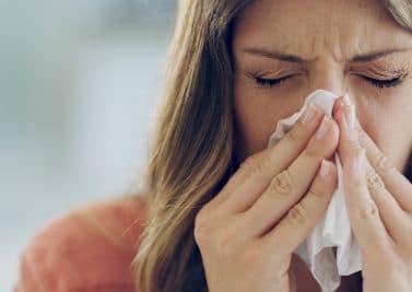 Les inhalations en cas de nez bouché